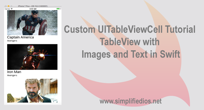 Swift: creating a tableview with different prototype styles.